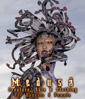 Medusa for Genesis 8 Female 3D Figure Assets sixus1