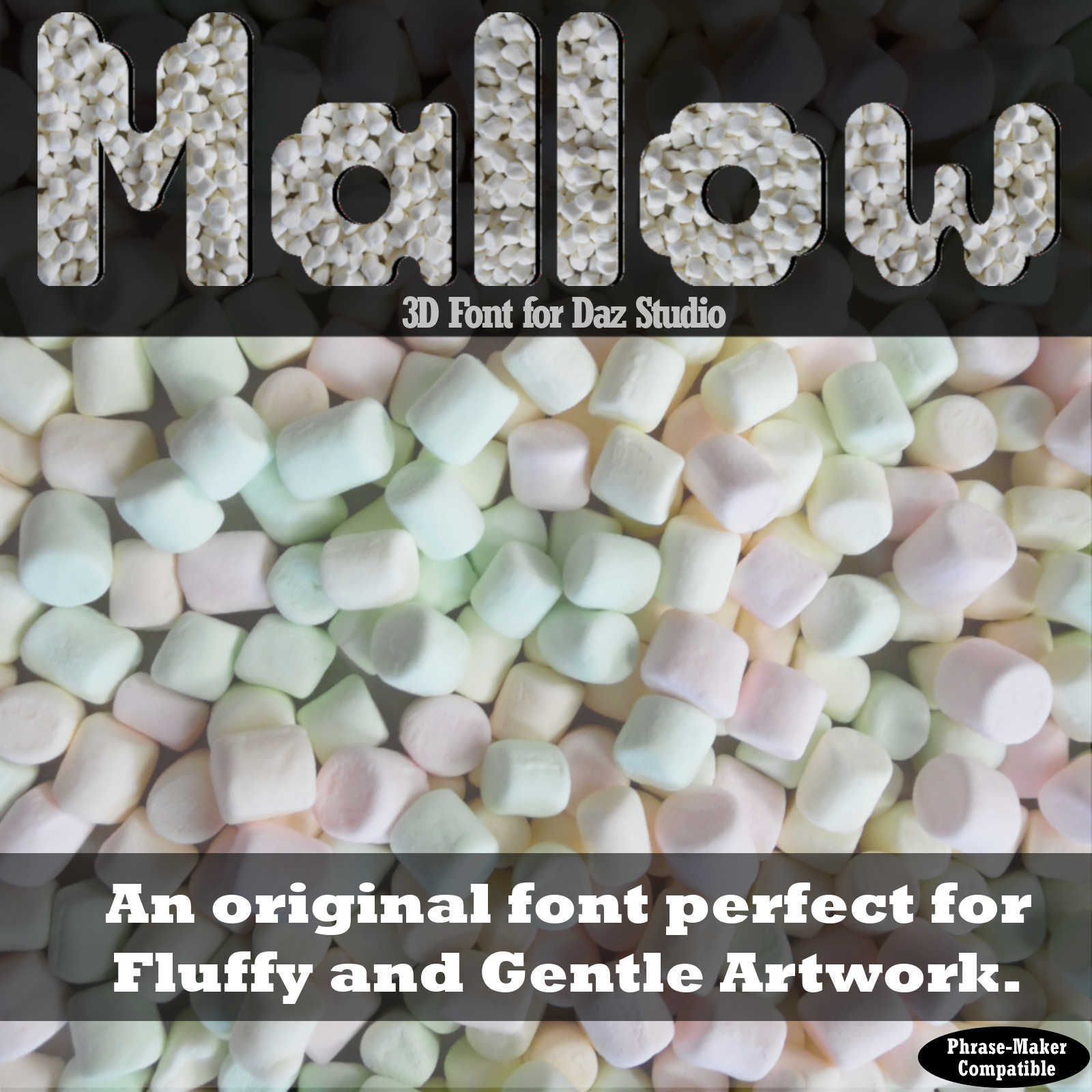 3D FONT - Mallow3D for Daz Studio