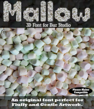 3D FONT - Mallow3D for Daz Studio Legacy Discounted Content Winterbrose