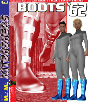 Boots 062 MMKBG3 3D Figure Assets MightyMite