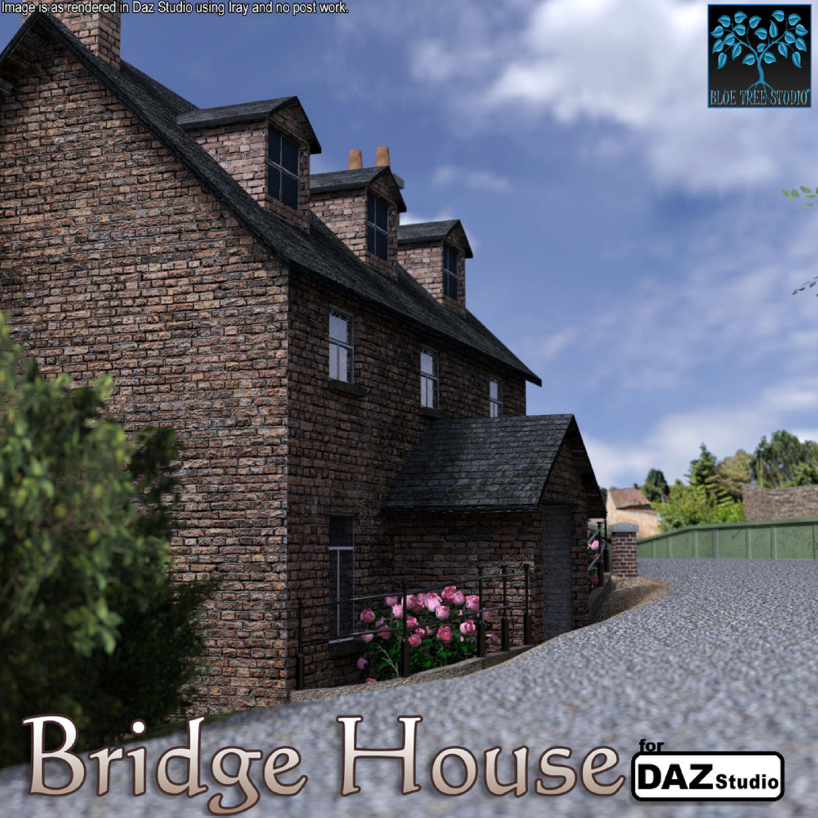 Bridge House for Daz Studio by BlueTreeStudio