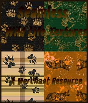 Seamless Wild Life Textures 2D Graphics Merchant Resources adarling97