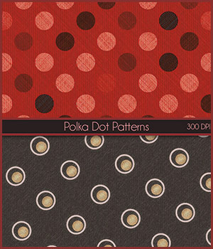 Seamless PolkaDot Patterns 2D Graphics Merchant Resources antje