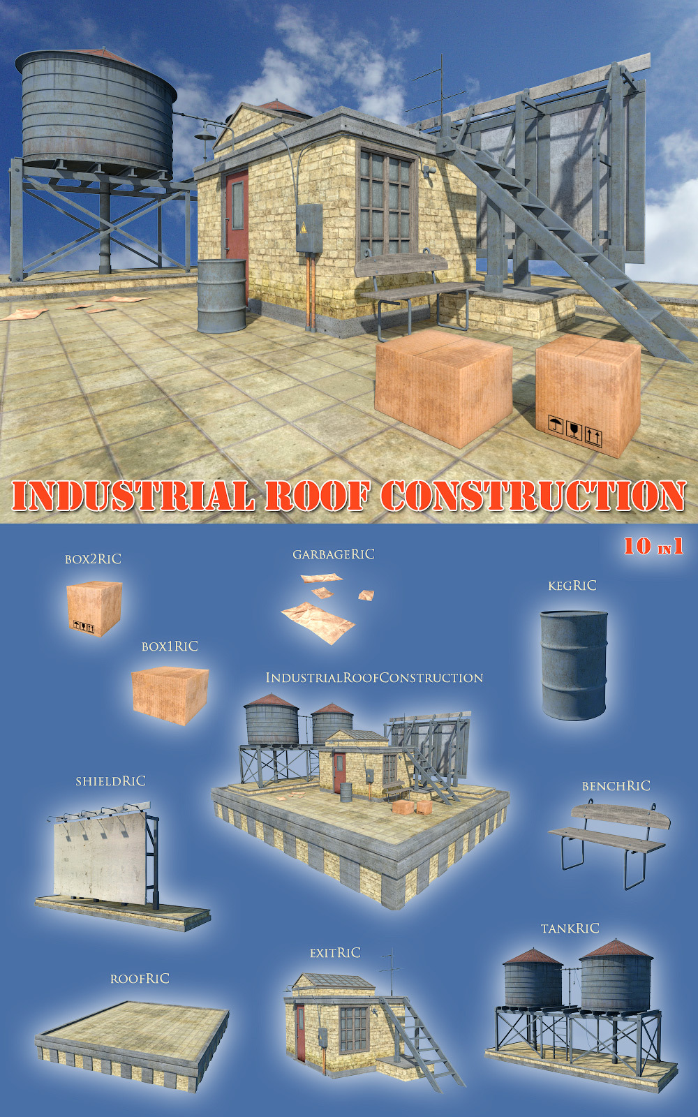 Industrial roof construction
