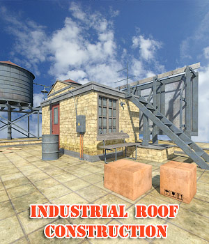 Industrial roof construction 3D Models 1971s