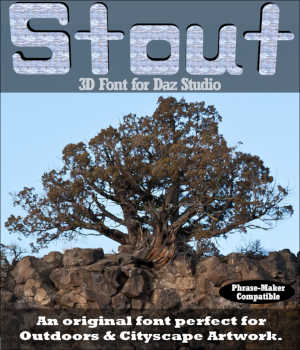 3D FONT - Stout3D for Daz Studio Legacy Discounted Content Winterbrose
