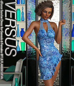 VERSUS - dForce Sunrise Dress for Genesis 8 Females 3D Figure Assets Anagord