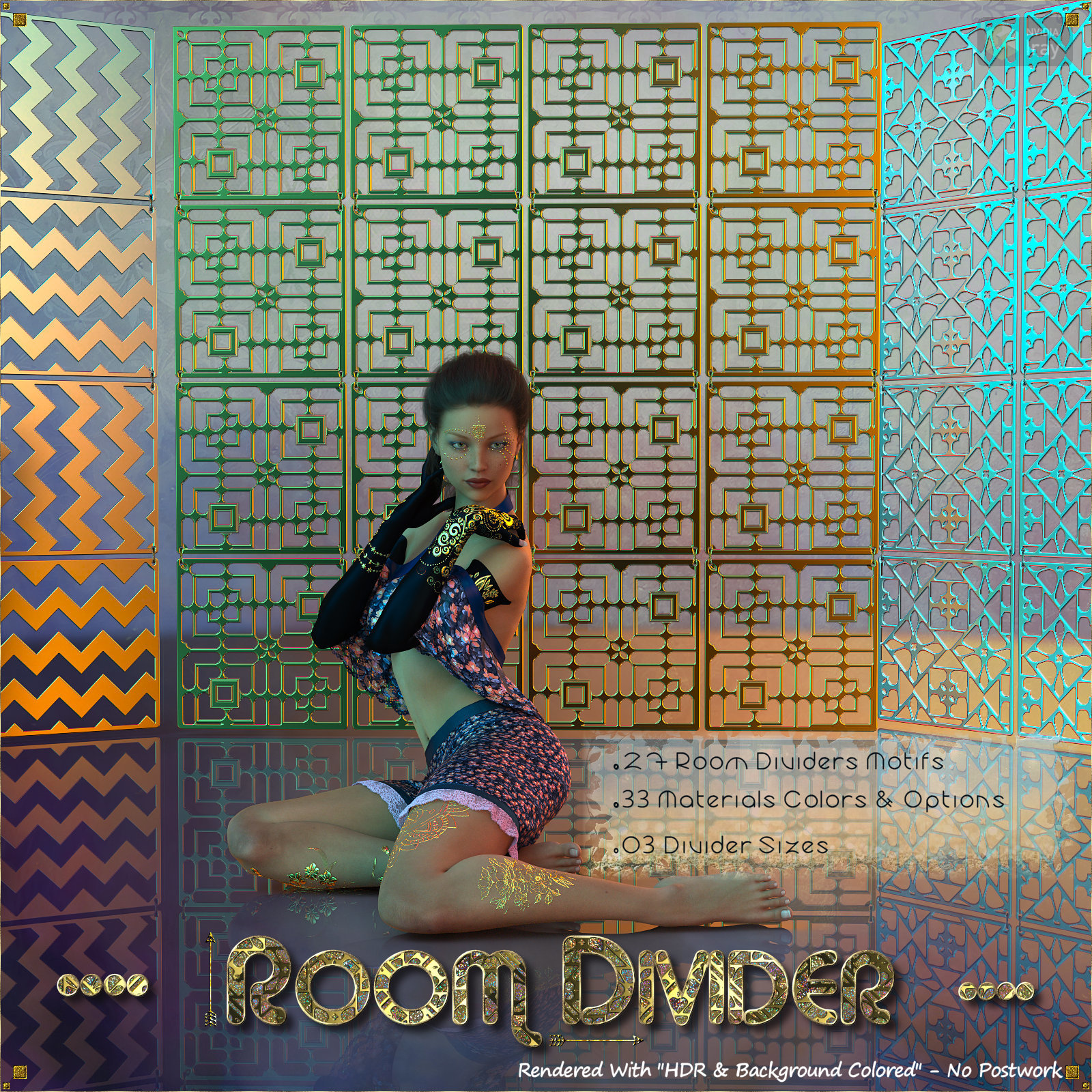 Room Dividers for DAZ Studio