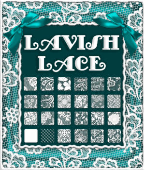 Lavish Lace Sheer PS Layer Styles 2D Graphics Merchant Resources fractalartist01