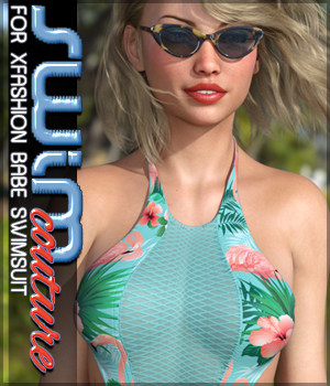 SWIM Couture for X-Fashion Babe Swimsuit 3D Figure Assets Sveva
