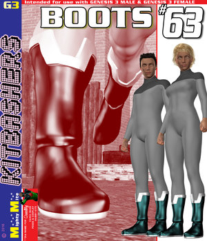 Boots 063 MMKBG3 3D Figure Assets MightyMite