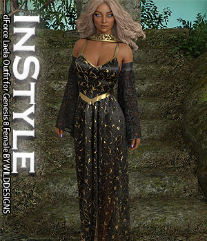 InStyle - dForce Laela Outfit for Genesis 8 Female 3D Figure Assets -Valkyrie-