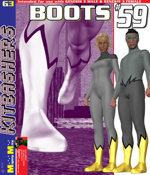 Boots 059 MMKBG3 3D Figure Assets MightyMite