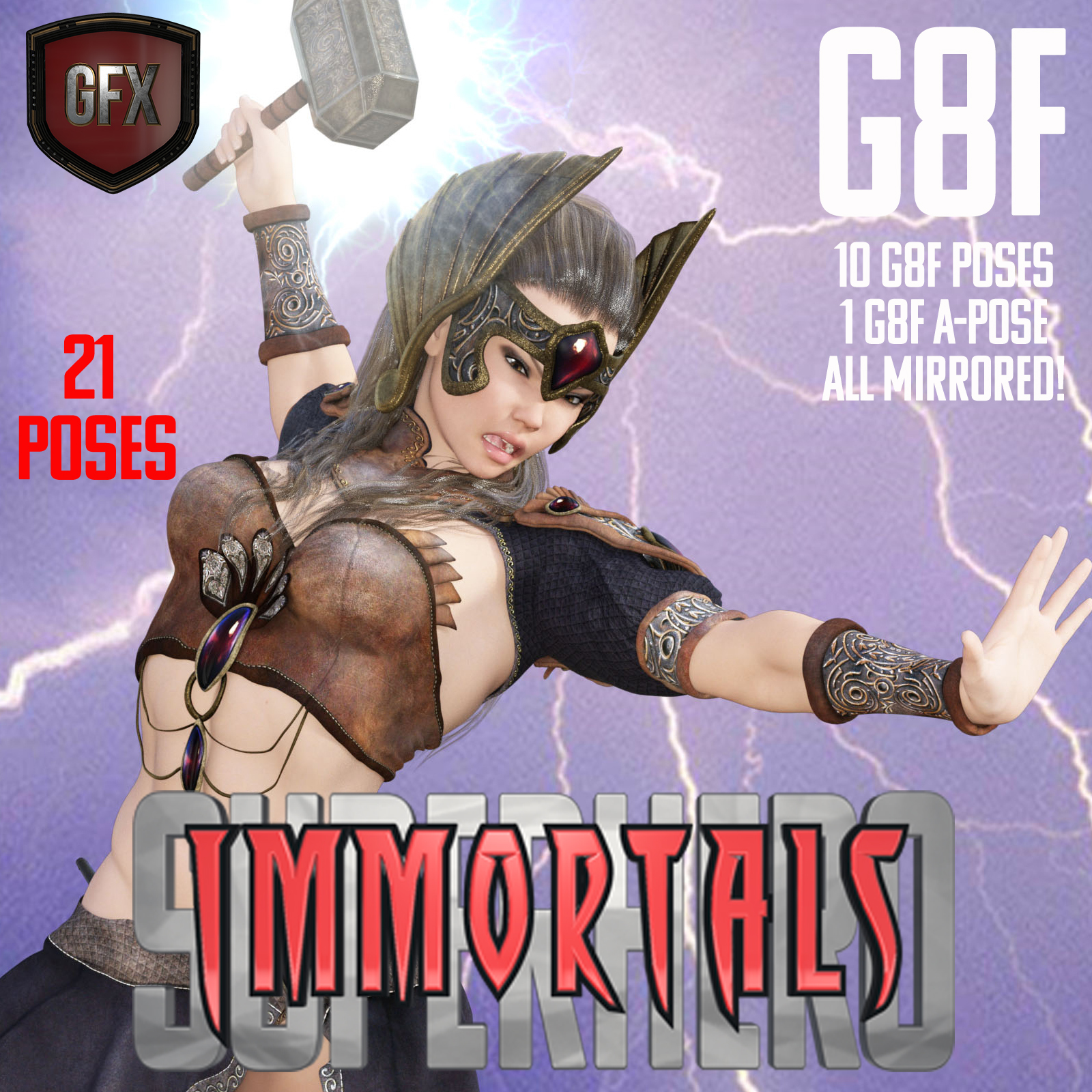 SuperHero Immortals for G8F Volume 1