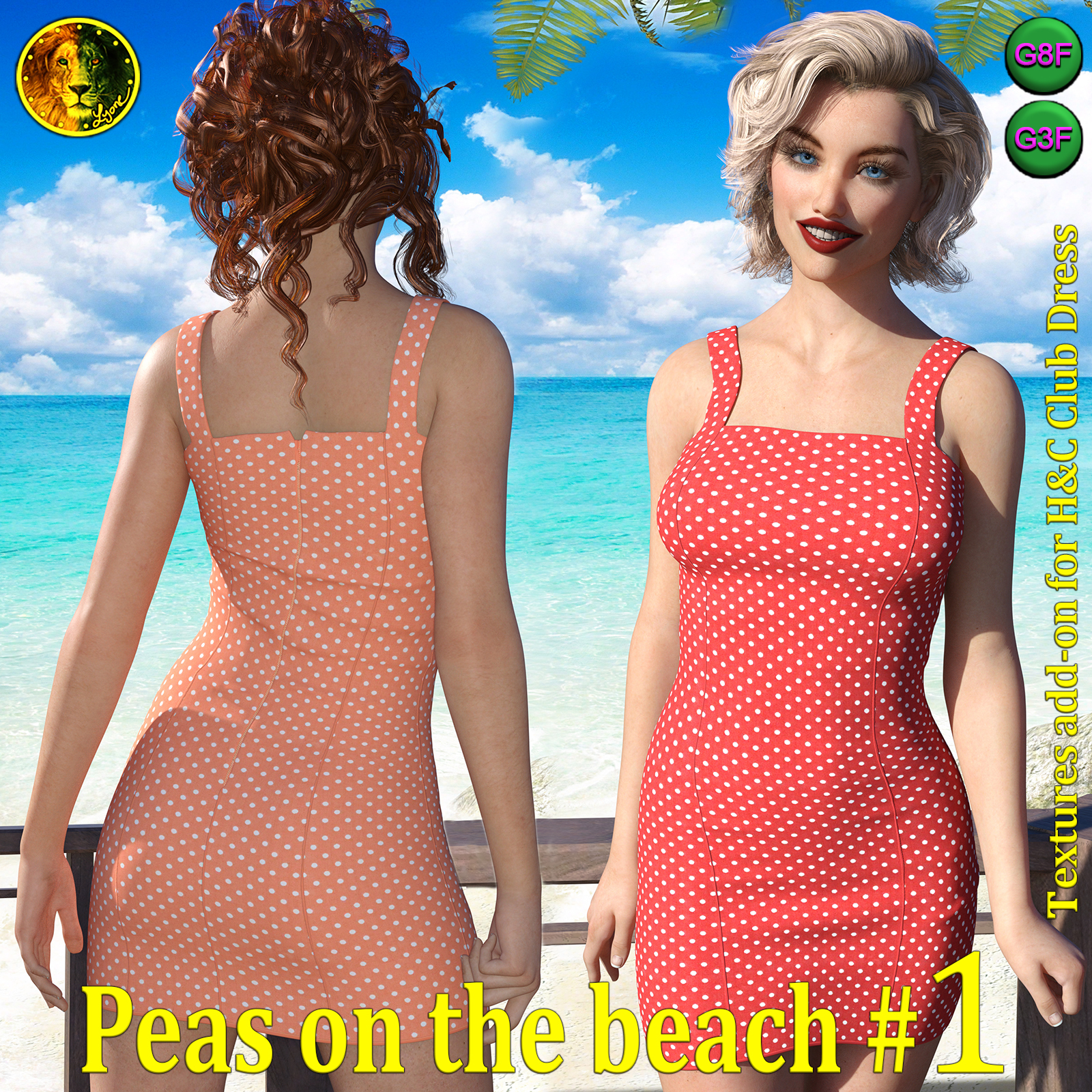 Peas on the beach 1 for H and C Club Dress