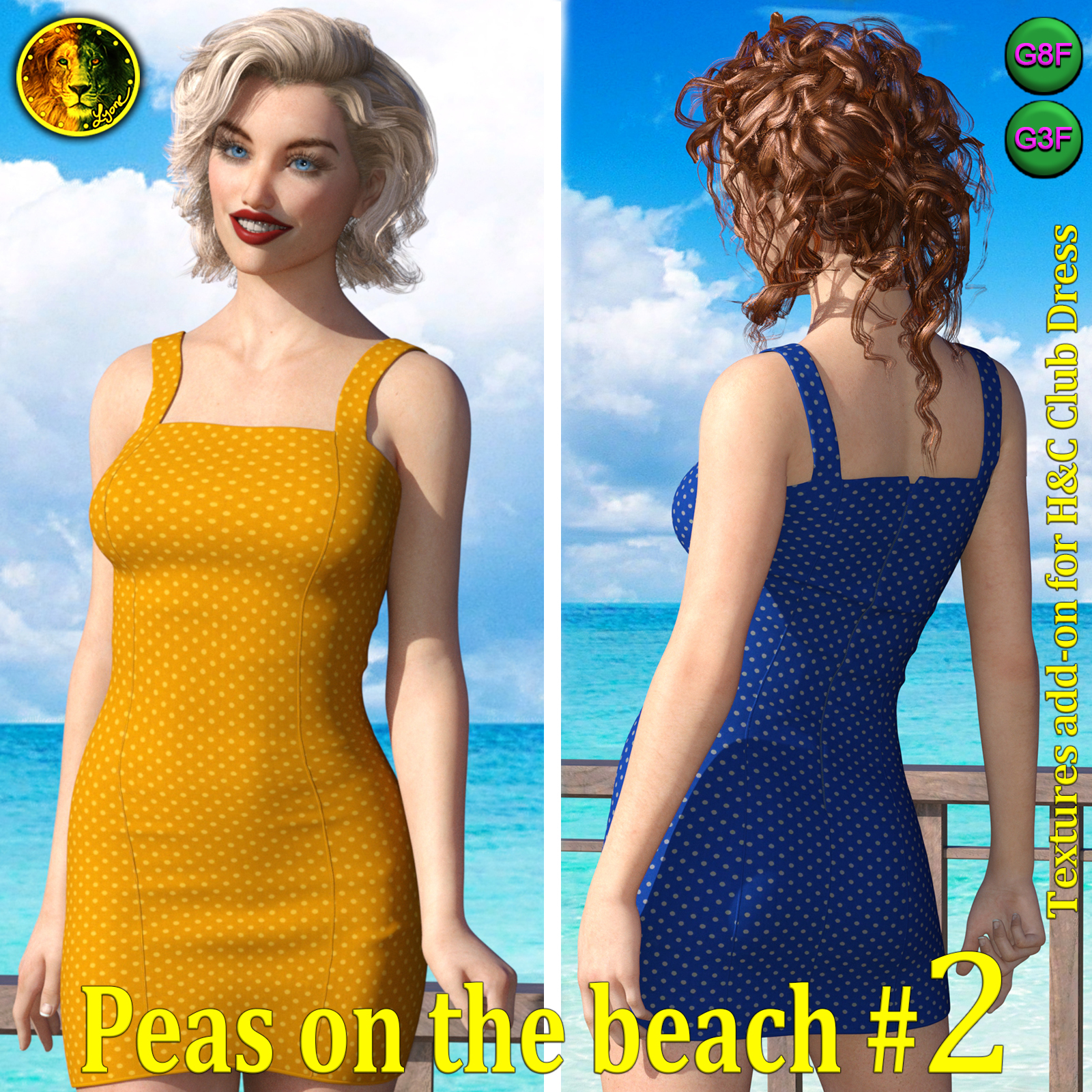 Peas on the beach 2 for H and C Club Dress