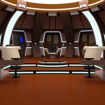 Starship Bridge 16 for DAZ Studio image 1