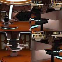 Starship Bridge 16 for DAZ Studio image 7