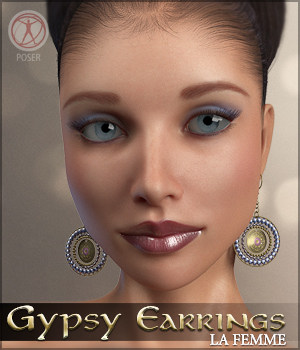 Gypsy Earrings La Femme Poser Figure 3D Figure Assets Sveva