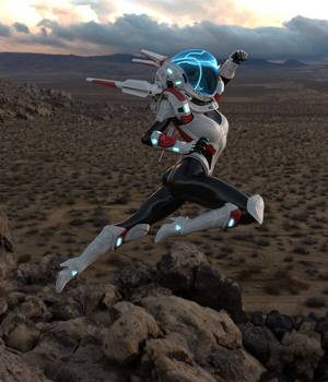 Space Combat Outfit for Genesis 8 Female 3D Figure Assets benalive
