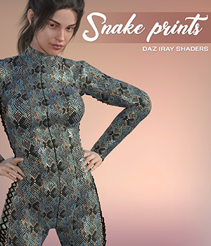 Daz Iray - Snake Prints 2D Graphics Merchant Resources Atenais