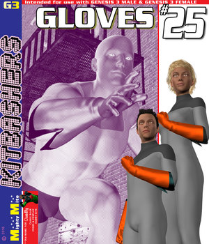 Gloves 025 MMKBG3 3D Figure Assets MightyMite