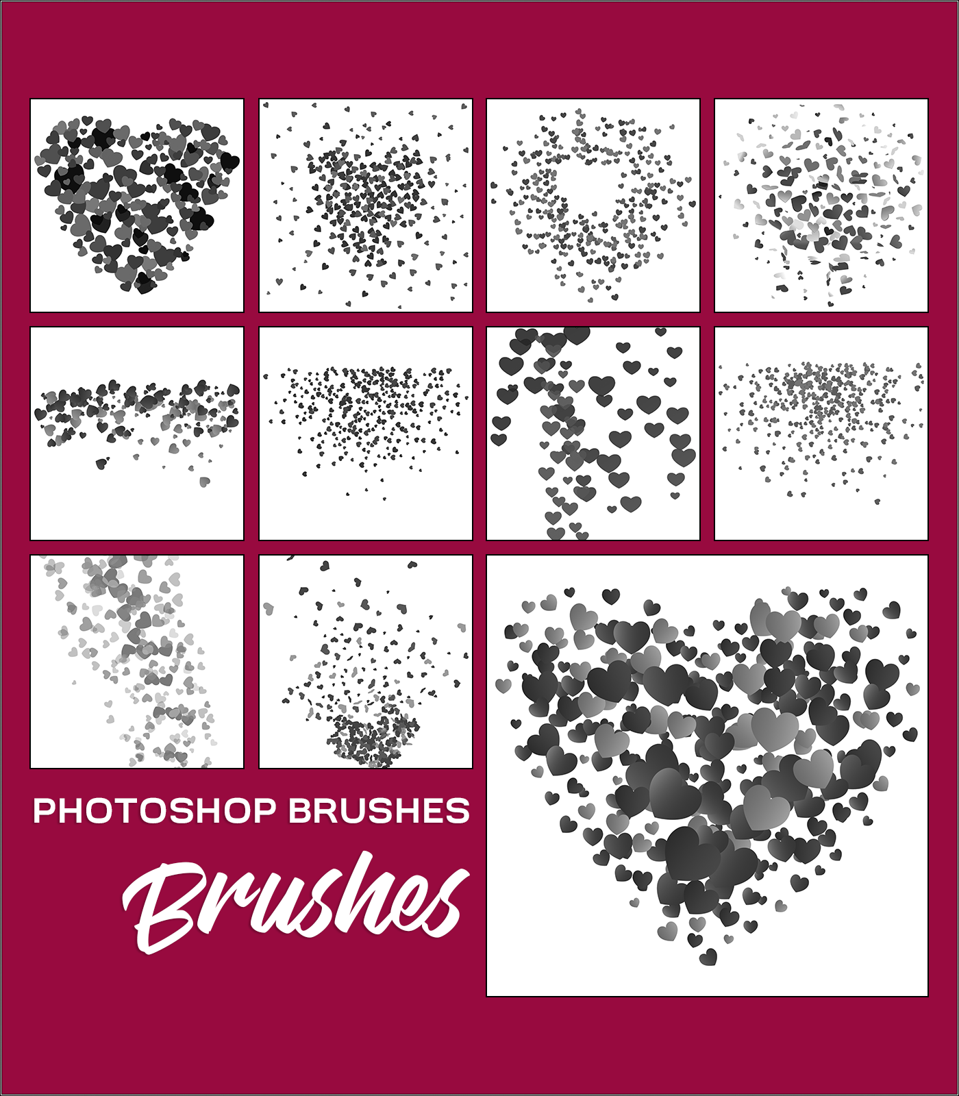 Photoshop Brushes - Hearts
