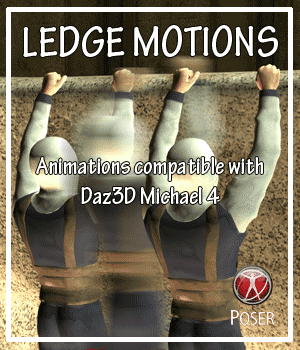 Ledge Motions for M4  3D Figure Assets AnyMatter