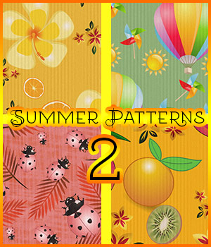 Summer Patterns 2 2D Graphics Merchant Resources antje