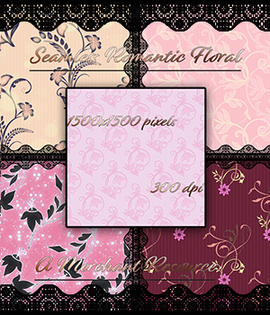 Seamless Romantic Floral Patterns 2D Graphics Merchant Resources adarling97