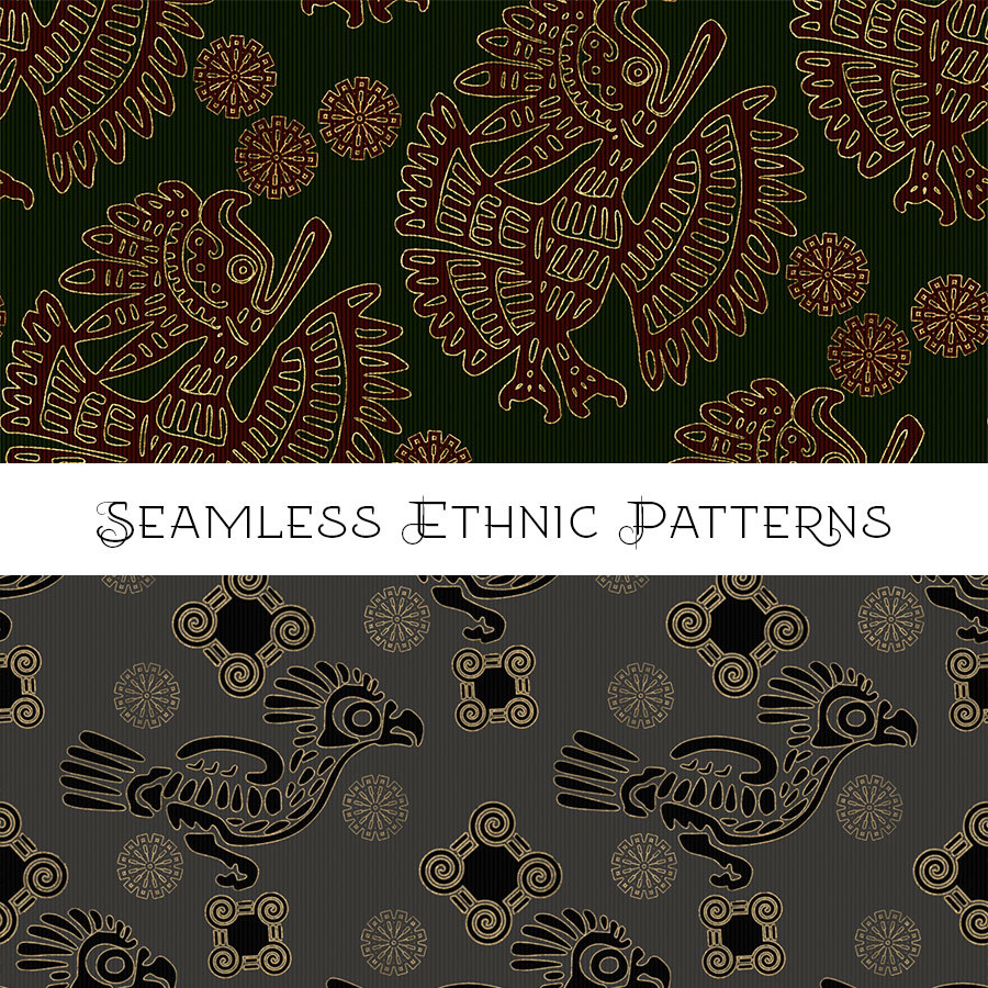 Seamless Ethnic Patterns by adarling97
