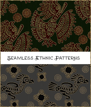 Seamless Ethnic Patterns 2D Graphics Merchant Resources adarling97