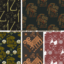 Seamless Ethnic Patterns image 4
