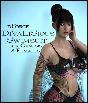 dForce DiVaLiSious Swimsuit for Genesis 8 Females 3D Figure Assets SWTrium