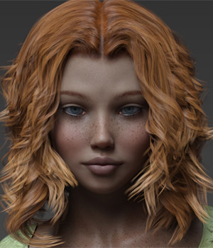 Teen Lidia G8F  3D Figure Assets Anagord