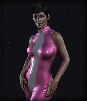 SciFi Cosplay Two for G8F 3D Figure Assets EdArt3D