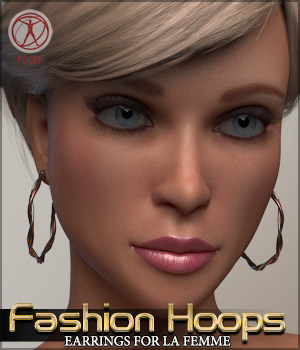 Fashion Hoops for La Femme Poser Figure 3D Figure Assets Sveva