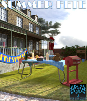 Summer Fete for Poser 3D Models BlueTreeStudio
