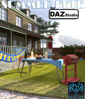 Summer Fete for Daz Studio 3D Models BlueTreeStudio