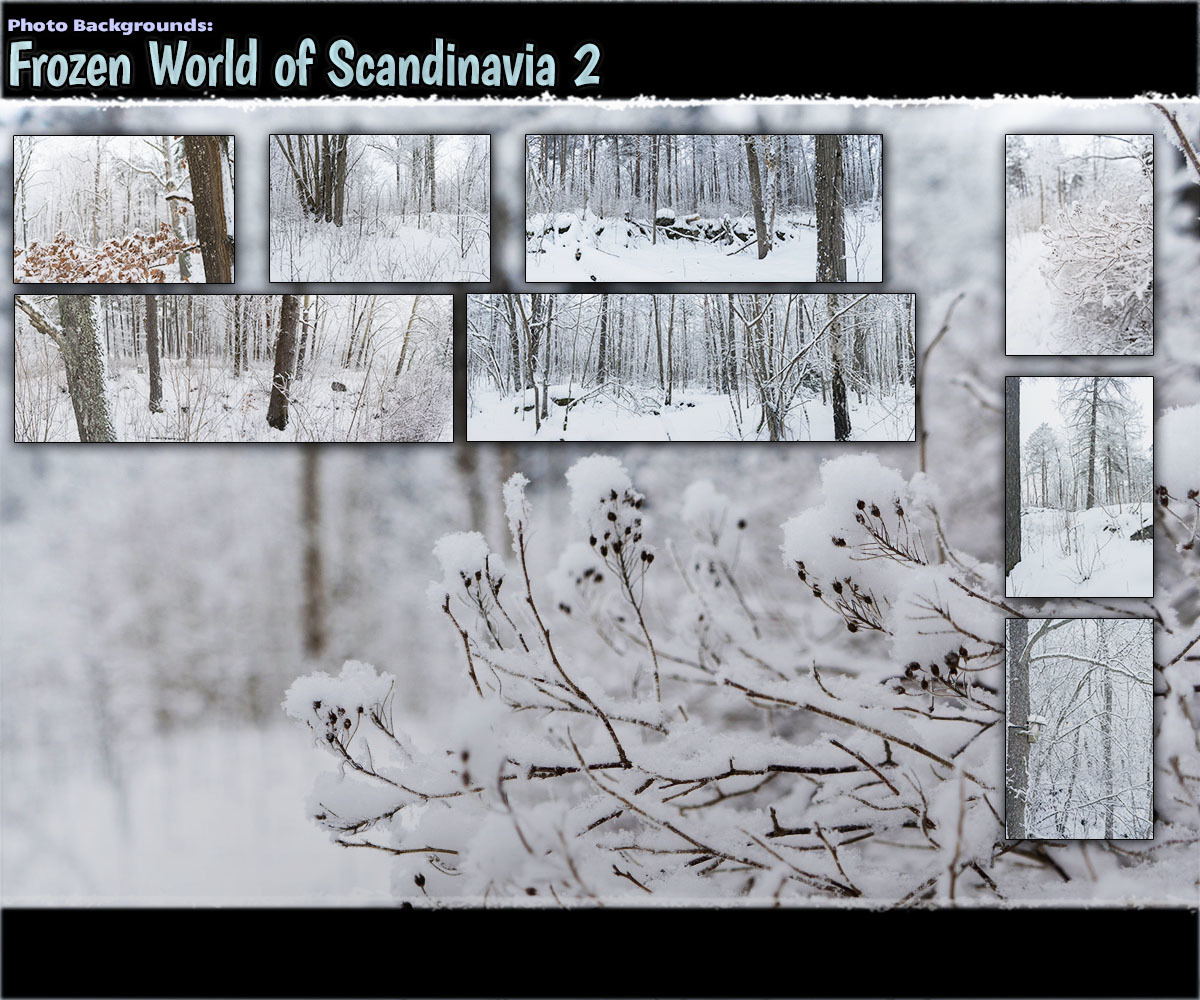 Photo Backgrounds: Frozen World of Scandinavia 2 by ShaaraMuse3D