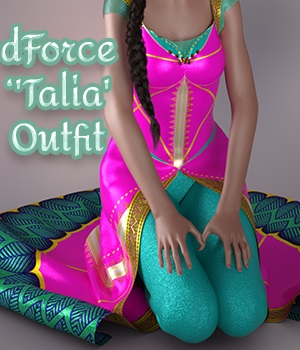 a93 - dForce Talia Outfit for G8F 3D Figure Assets anjeli93