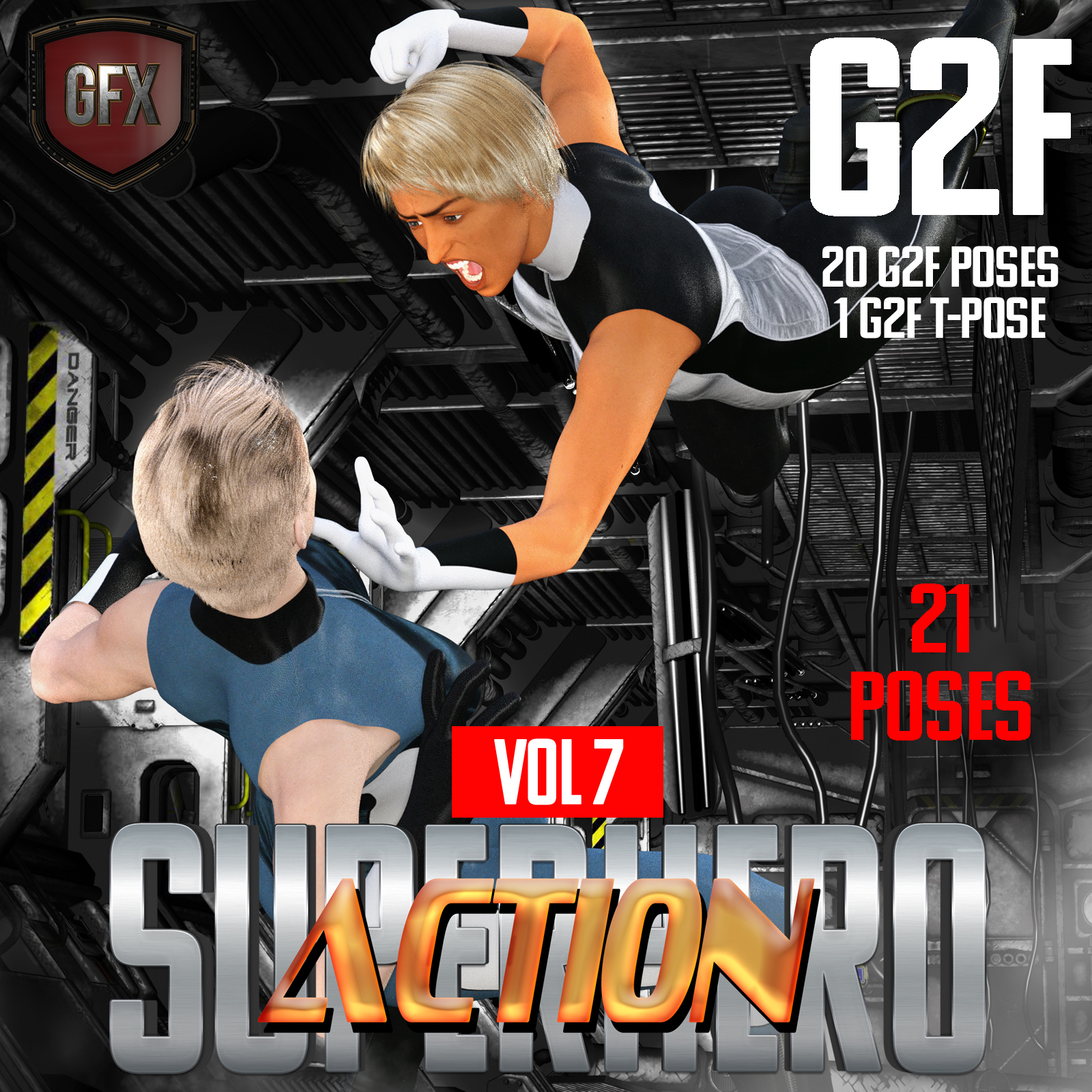 SuperHero Action for G2F Volume 7