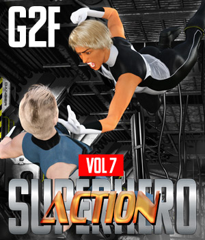 SuperHero Action for G2F Volume 7 3D Figure Assets GriffinFX