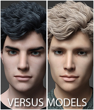 VERSUS MODELS - Head Morphs for G8M Vol1 3D Figure Assets Merchant Resources Anagord