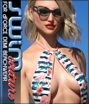 SWIM Couture for dForce Demi Beachwear 3D Figure Assets Sveva