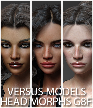 VERSUS MODELS - Head Morphs for G8F Vol1 3D Figure Assets Anagord