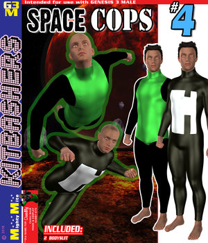Space Cops 004 MMKBG3M 3D Figure Assets MightyMite