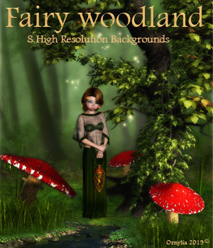 Fairy Woodland 2D Graphics ornylia