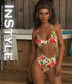 InStyle - Ultra Swimsuit for Genesis 8 Females 3D Figure Assets -Valkyrie-