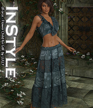 InStyle - dForce - Flower Child for G8F 3D Figure Assets -Valkyrie-